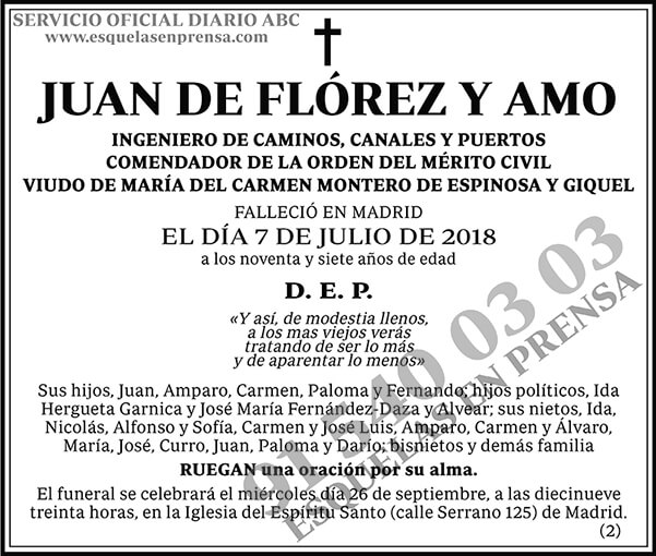 Juan de Flórez y Amo